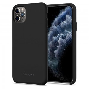 Etui Spigen SILICONE FIT iPhone 11 Pro BLACK