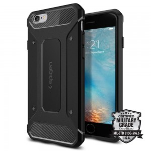 Etui Spigen Rugged Armor iPhone 6/6S (4.7) - czarne