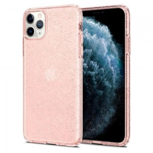 Etui Spigen Liquid Crystal do iPhone 11 Pro Max Glitter Rose