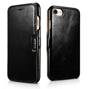 Etui ICARER VINTAGE iPhone 7/8/SE 2020 BLACK