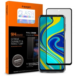 Szkło hartowane Spigen Glass FC do Xiaomi Redmi Note 9S/9 Pro/9 Pro Max Black