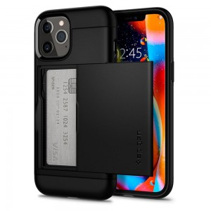 Etui Spigen Slim Armor CS do iPhone 12/12 Pro czarne
