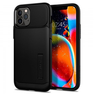Etui Spigen Slim Armor do iPhone 12/12 Pro czarne