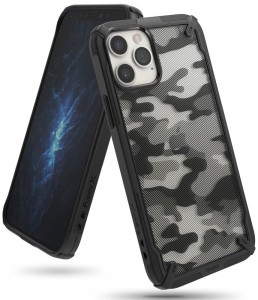 Etui Ringke Fusion X do iPhone 12/12 Pro Camo Black