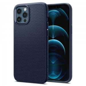 Etui Spigen Liquid Air do iPhone 12/12 Pro navy niebieskie