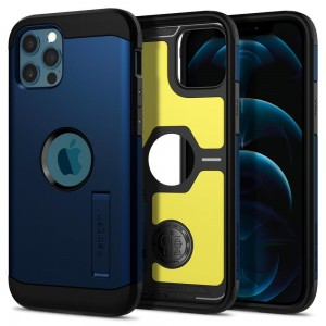 Etui Spigen Tough Armor do iPhone 12/12 Pro navy niebieskie