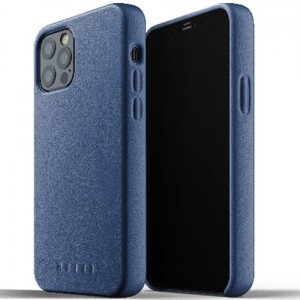 Etui Mujjo Full Leather Case do iPhone 12/12 Pro niebieskie