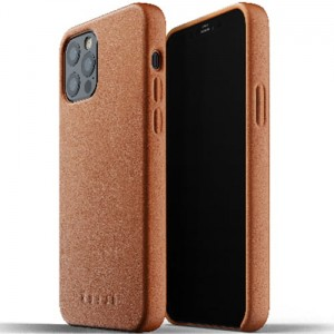 Etui Mujjo Full Leather Case do iPhone 12/12 Pro brązowe