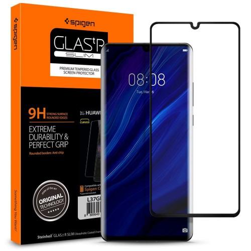 Szkło hartowane Spigen GLAS.TR Slim Huawei P30 Pro czarne