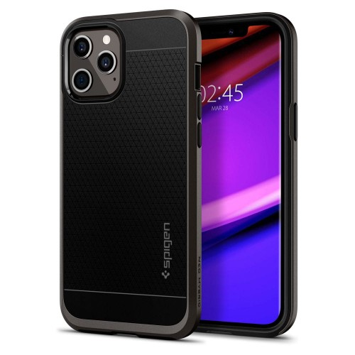Etui Spigen Neo Hybrid do iPhone 12/12 Pro Stalowe