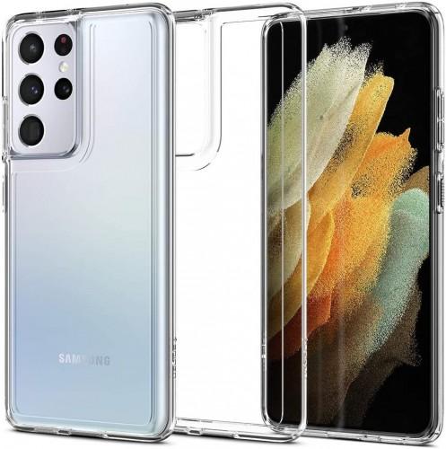 Etui Spigen Ultra Hybrid do Samsung Galaxy S21 Ultra przezroczyste