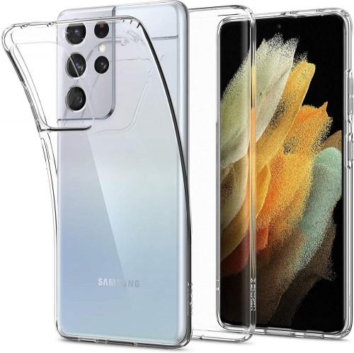 Etui Spigen Liquid Crystal do Samsung Galaxy S21 Ultra przezroczyste